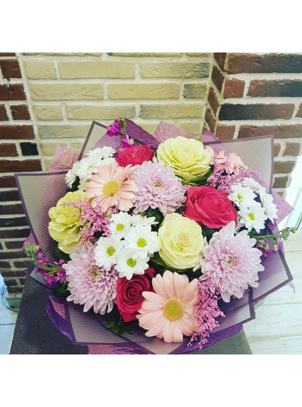 Купить Букет с Хризантемой и Розой