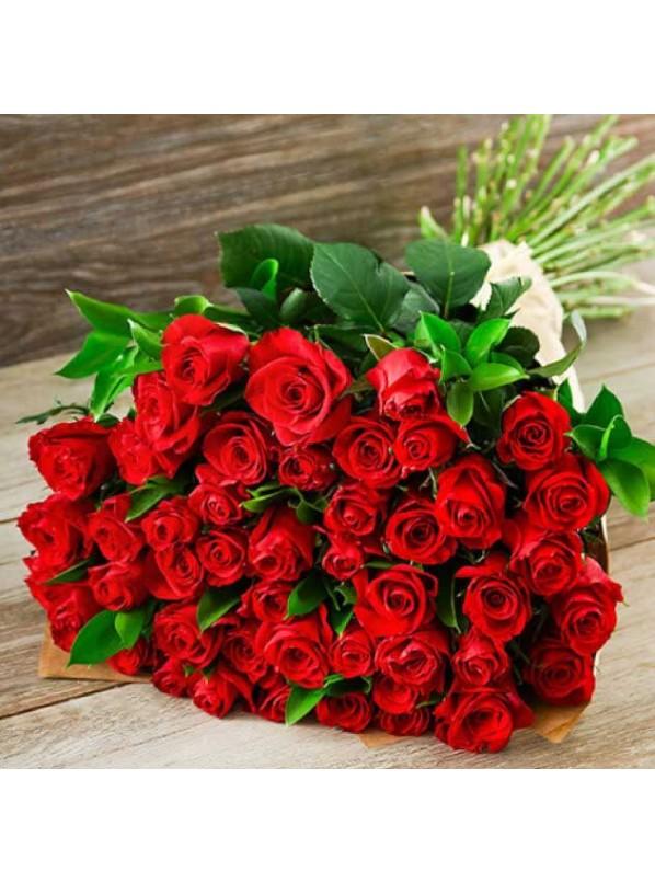Монобукет из 21 красных роз