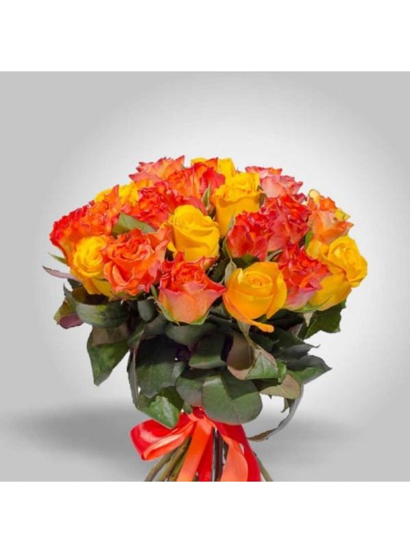 Монобукет из 25 оранжевых роз