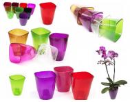 Кашпо для орхидей D14,  1,3 л прозрачный