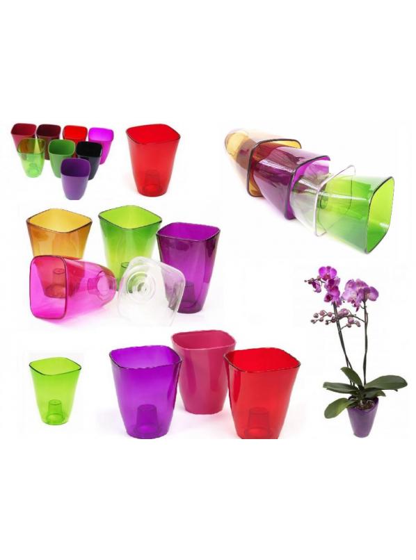 купить Кашпо для орхидей D14,  1,3 л прозрачный