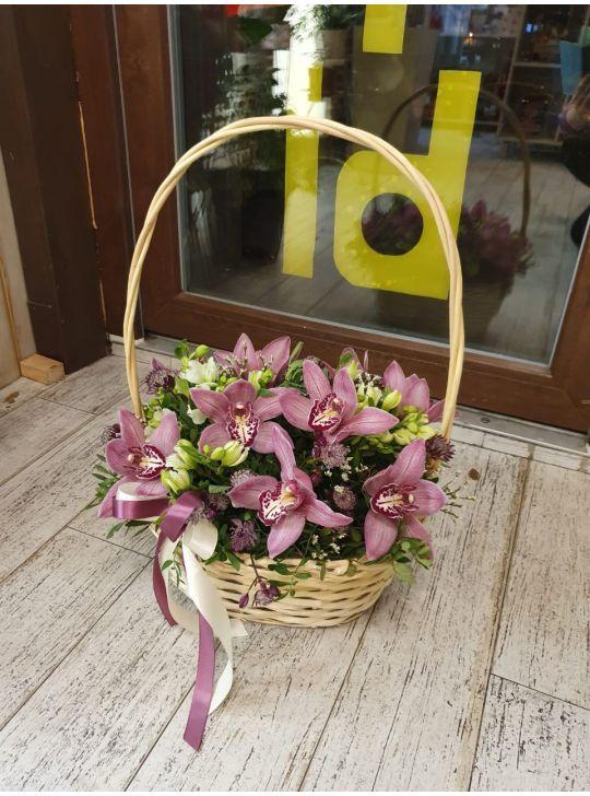 Корзина с орхидеями №10